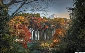 Herbst Wasserfall In Japan Hd Hintergrundbilder Herunterladen