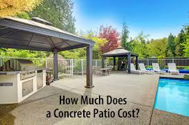 compare 2020 average concrete patios vs