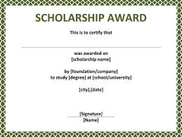 certificates interesting scholarship certificate template