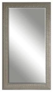 full length silver beaded frame mirror