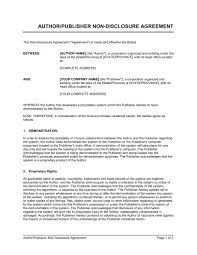 Mutual Confidentiality Agreement AuthorPublisher NonDisclosure Agreement Template Sample Form 36