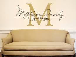 why monogram wall decals make the best statement on your wall design
