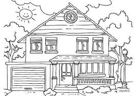 Small Picture House Front Yard in Houses Coloring Page NetArt