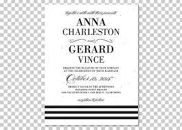 Black And White Invitation Paper Wedding Invitation Paper White Tie Black Tie Png Clipart