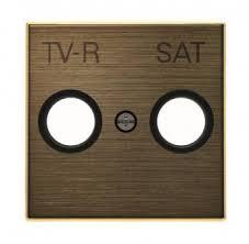 <b>Лицевая панель ABB Sky</b> розетки TV-R-SAT античная латунь ...