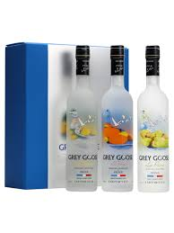 grey goose vodka setcitron orange poire 3x20cl