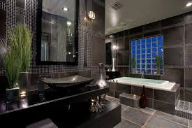 Contemporary black and gray master bathroom contemporary-bathroom
