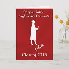 Customizable Girls High School Graduation Cards
