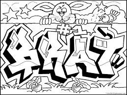 Small Picture Graffiti coloring pages to download and print for free