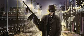 Image result for mafia with tommy gun