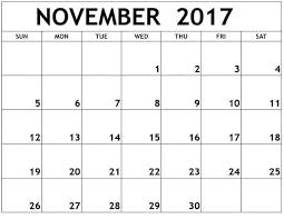 free printable november 2017 calendar template free printable