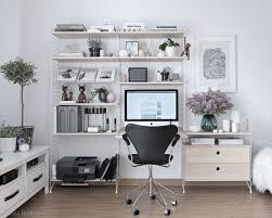 home office work room furniture scandinavian. Www.elledecor.com, This Home Office Is Every Scandinavian Design Lover\u0027s Dream Work Space. Room Furniture