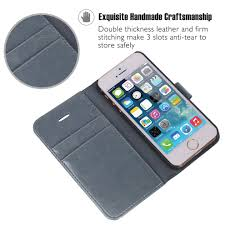 ocase iphone se case iphone 5s case screen protector included leather wallet flip