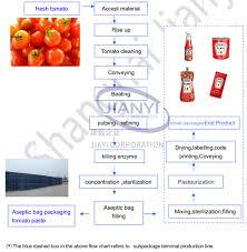 Tomato Sauce Production Flow Chart Tomato Paste Production Line Shanghai Jianyi Machinery Co Ltd