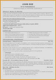 Emt Resume Example From Emt Resume Examples 266 Best Resume Examples