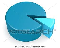 10 Pie Chart Blue Pie Chart With 10 Percent Drawing K55156872 Fotosearch