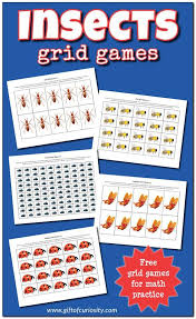 Insects Grid Games {free insect math printables   Basic math, Math ...