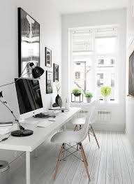 work for the home office. White And Spacious Home Office Setting Up A Work For The R