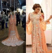 Red Moroccan Kaftan Evening Dresses With Crystals Arabic Dubai Kaftan Abaya Long Chiffon Muslim Prom Dress
