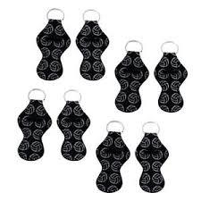 Chart Holder Flask Details About 8 Pieces Neoprene Keychain Chapstick Holder Lip Balm Holder Keyring Black