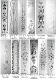 Sandblast Glass Designs Gallery Etched Glass Panel Designs