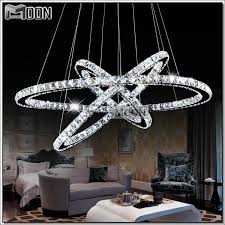 3 diamond ring led crystal chandelier light modern led lighting circles lamp guarantee fast and