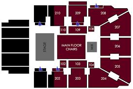 The Van Buren Venue Seating Chart Seating By Venue Griztix University Of Montana