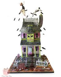 50th Birthday Haunted House Cake  Halloween Cakes
