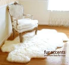 faux skin rug new plush thick long hair faux fur sheepskin accent rug white x faux