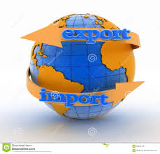 Imports Business Import And Export Arrow Around Earth For Business Stock