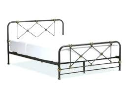 metal platform bed frame. Metal Platform Bed Frame Twin Target Studio Stippled And Brass