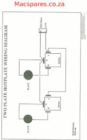 wiring diagrams stoves switches and thermostats macspares two plate hotplate connection acircmiddot 71 th thermostat