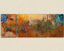 zoom on matching wall art prints with extra large triptych abstract art canvas print 30x80 to