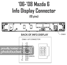 tech tutorials how to install 2006 2008 radio into 2003 2005 mazda 6 2007 mazda 6 radio wiring diagram oem stock radio wire harness