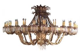 monumental hollywood regency gilded iron 10 ft chandelier