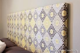 master bedroom redo diy fabric headboard