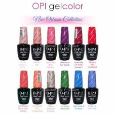 Opi Gelcolor Soak Off Uv Led Gel Polish Colours From The New Orleans Collection