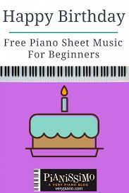 easy piano sheet happy birthday