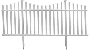 Vinyl picket fence front yard Closed Top White Picket Fence Panel Kit 42 92 In Home Front Yard Semipermanent Vinyl Dawncheninfo White Picket Fence Panel Kit 42 92 In Home Front Yard Semi