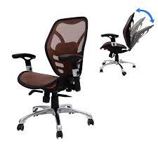 HomCom Deluxe Mesh Ergonomic Seating Office Chair - Orange ...