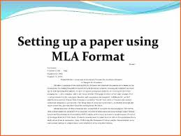 what is the mla format for essays budget template letter setting up a paper using mla format