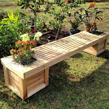 41 planter box bench plans free planter bench plans built with flower pot bench