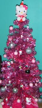 Baby Nursery  Appealing Black White Christmas Tree Decor Angel Cat Themed Christmas Tree