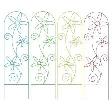 garden netting lowes. Garden Trellis Lowes Treasures W X H Painted Daisy Netting