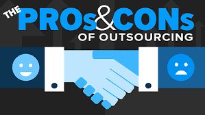 Image result for HD images regarding pros and cons of outsourcing