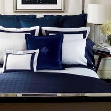 ralph lauren blue and white comforter set suite glen plaid navy bedding by 7