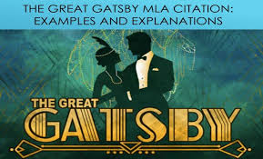 the great gatsby mla citation with