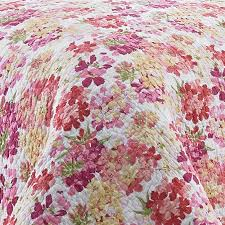 laura ashley laura ashley s secret garden reversible quilted three point set queen bedspread three piece set multi cover quilt bedding queen size bedspread