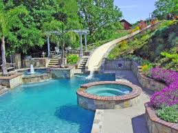 Cool Swimming Pools Swimming Pool Designs With Slides Cool Pools