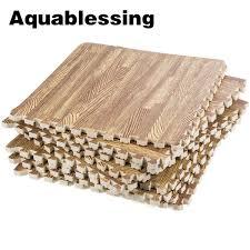aquablessing interlocking foam mats interlocking floor mats wood grain puzzle floor mat foam floor tiles wood grai